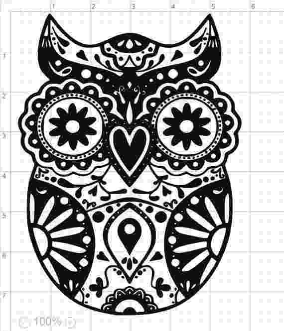 mandala owl owl mandala svg owl svg mandala owl svg digital cutting mandala owl