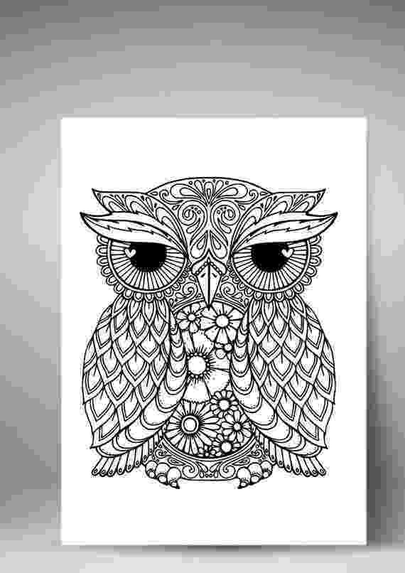 mandala owl vector hand drawn owl sitting on branch black and white owl mandala