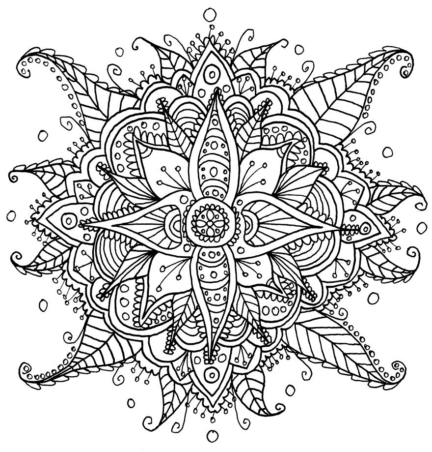 mandala print out floral mandala 85x11 ink drawing card stock print etsy print out mandala
