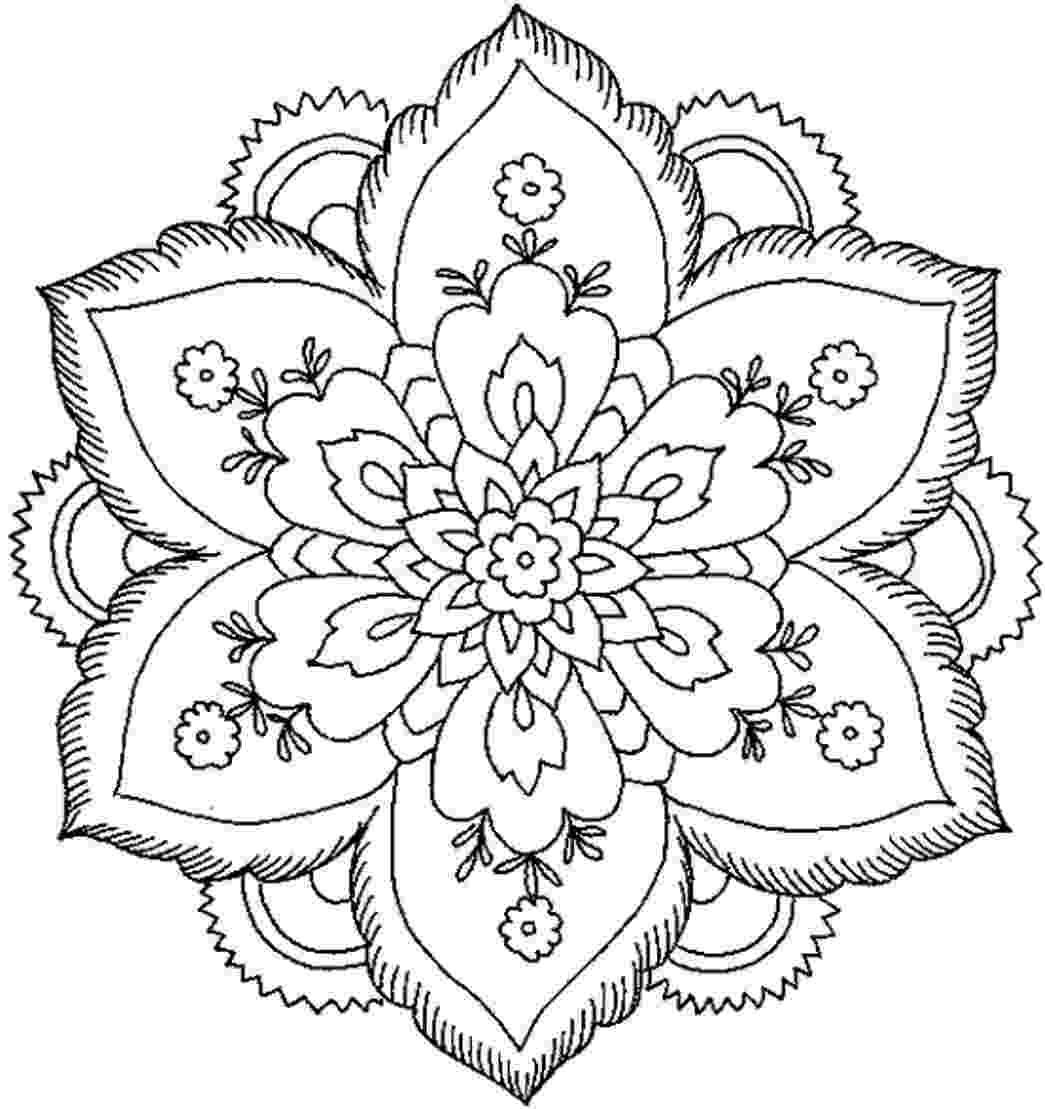mandala print out simple mandala with flower coloring page free printable print mandala out