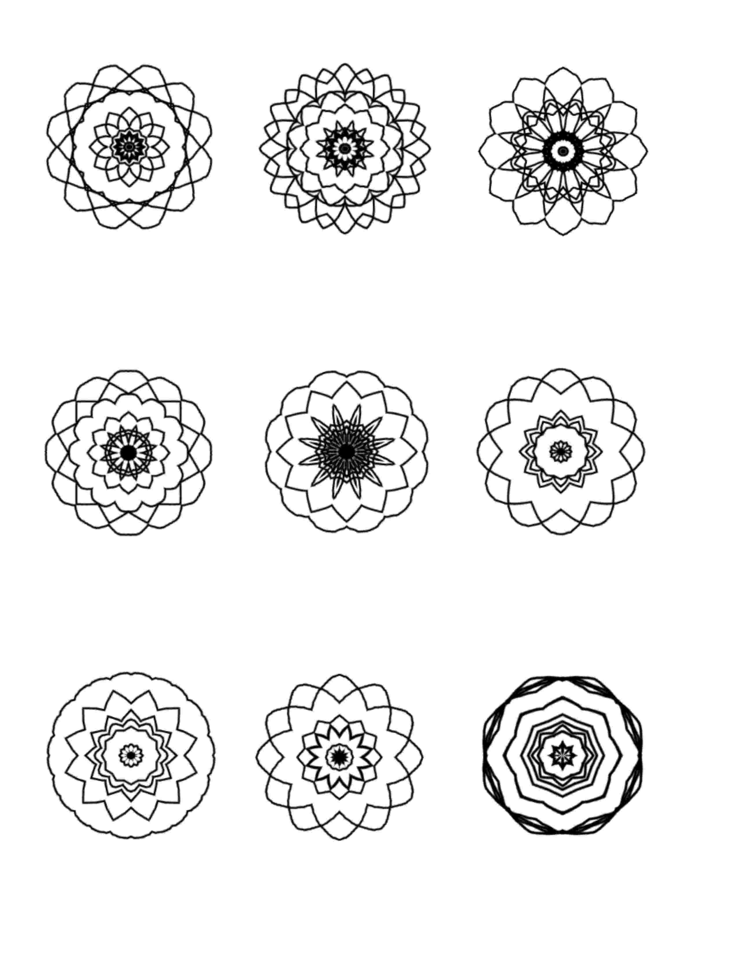 mandalas more mini mandalas to color ilah39s blog about mandalas mandalas