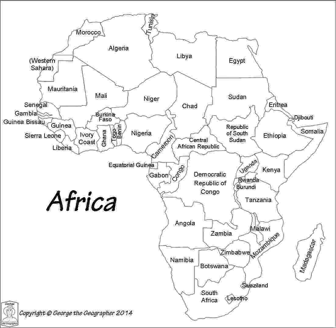 map of africa printable black and white map themechanicredwoodcitycom black of africa white printable map and