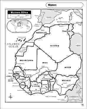 map of africa printable black and white western africa map printable maps and skills sheets and printable map africa of black white