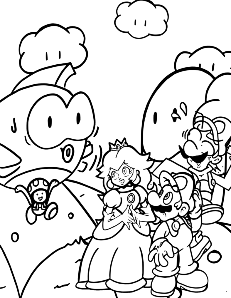 mario 3d world coloring pages mario 3d world coloring pages at getcoloringscom free coloring mario 3d pages world