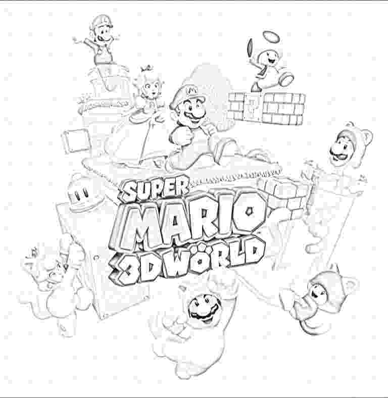 mario 3d world coloring pages super mario coloring page 01 cross stitch mario luigi world mario 3d coloring pages