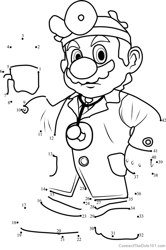 mario connect the dots luigi from super mario dot to dot printable worksheet connect dots mario the
