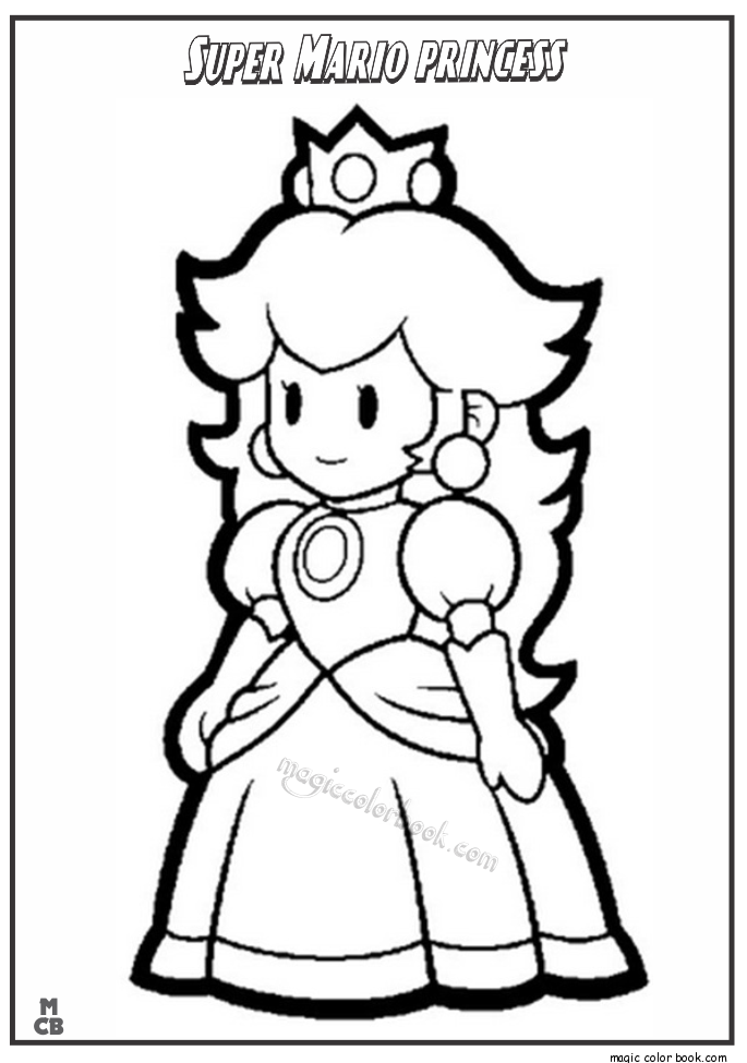 mario princesses free princess peach coloring pages for kids mario princesses