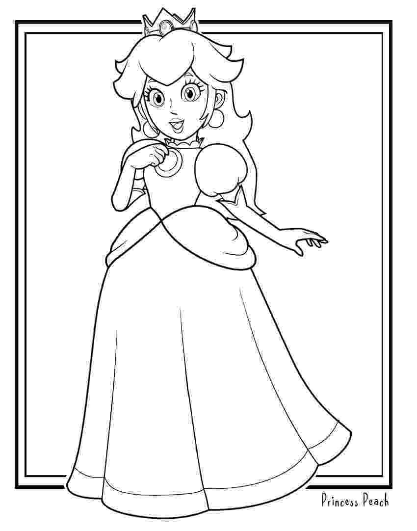 mario princesses printable mario coloring pages princesses mario