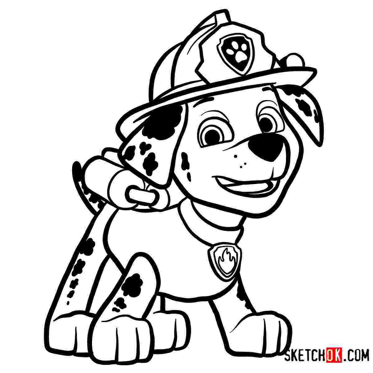 marshall from paw patrol marshall paw patrol drawing at getdrawingscom free for paw patrol marshall from