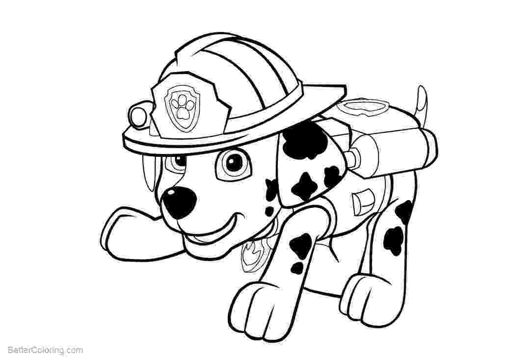marshall from paw patrol paw patrol coloring pages getcoloringpagescom marshall from patrol paw