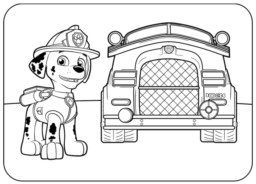 marshall from paw patrol paw patrolpaw patrol meet marshall colouring pages for patrol paw marshall from