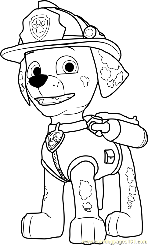 marshall from paw patrol top 10 paw patrol coloring pages of 2017 patrol paw from marshall