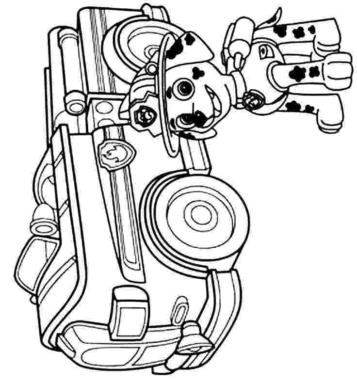 marshall paw patrol coloring pages paw patrol marshall with fire truck coloring page free marshall paw patrol pages coloring