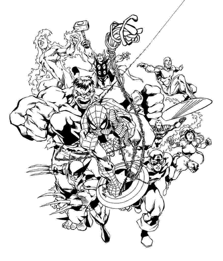 marvel coloring pages marvel superhero coloring pages getcoloringpagescom pages coloring marvel