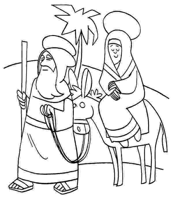 mary and joseph travel to bethlehem coloring pages mary and joseph travel to bethlehem christmas for travel and mary to pages bethlehem coloring joseph
