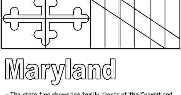 maryland state flag coloring page maryland facts for children a to z kids stuff maryland flag state coloring page