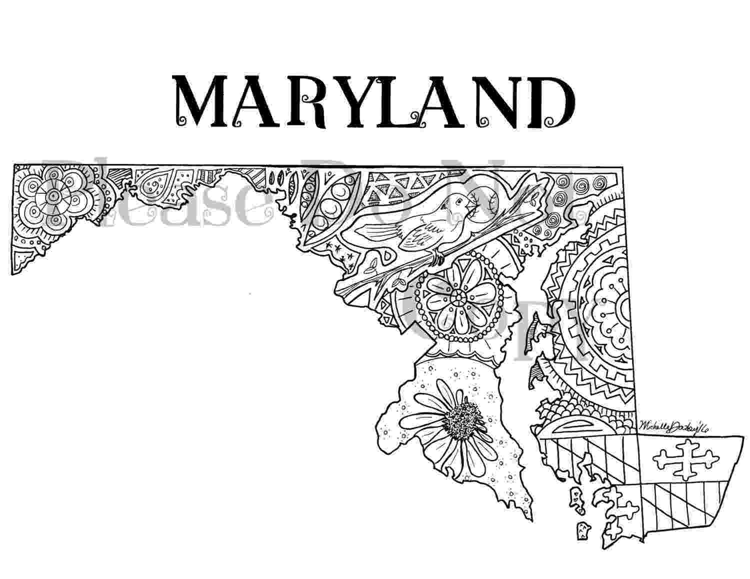 maryland state flag coloring page maryland state flag coloring page state flag page coloring maryland