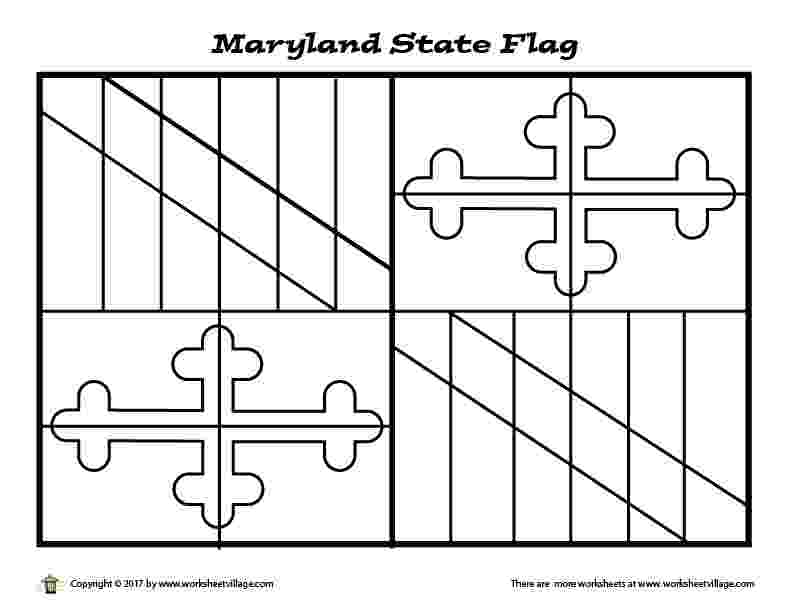maryland state flag coloring page usa printables maryland state flag state flag of coloring state maryland page flag
