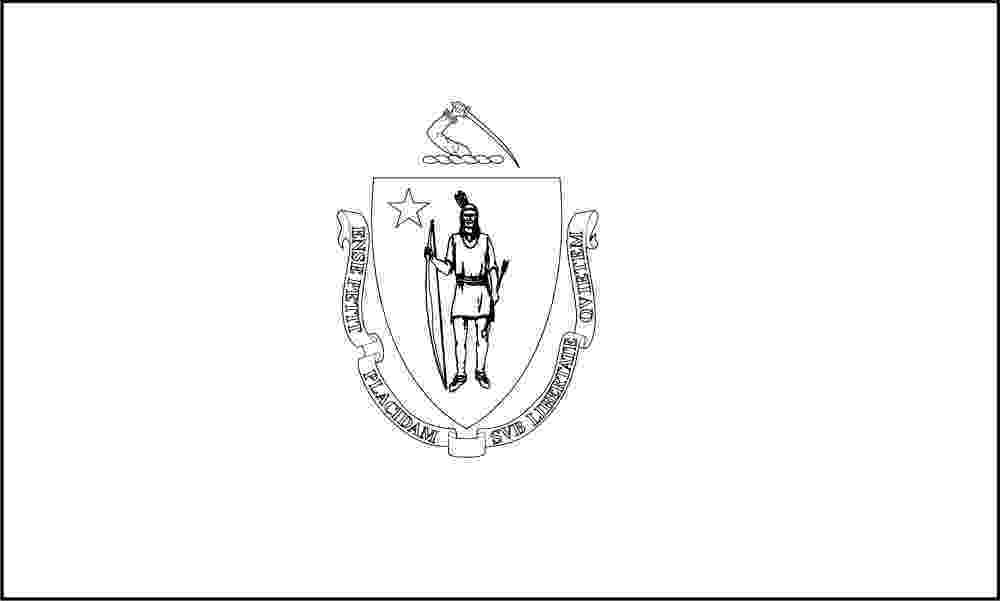 massachusetts state flag coloring page free printable massachusetts state flag color book pages flag coloring massachusetts state page