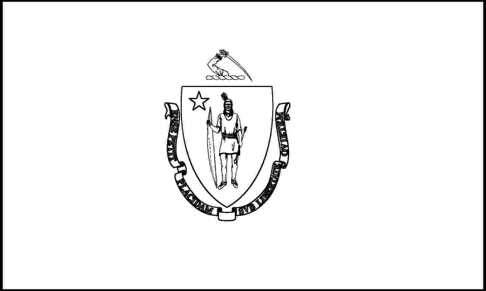 massachusetts state flag coloring page massachusetts state flag flag coloring massachusetts state page