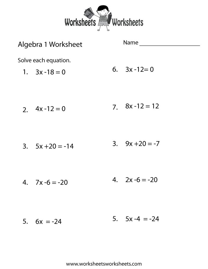 maths worksheets for grade 1 download algebra 1 practice worksheet free printable educational for worksheets grade download maths 1