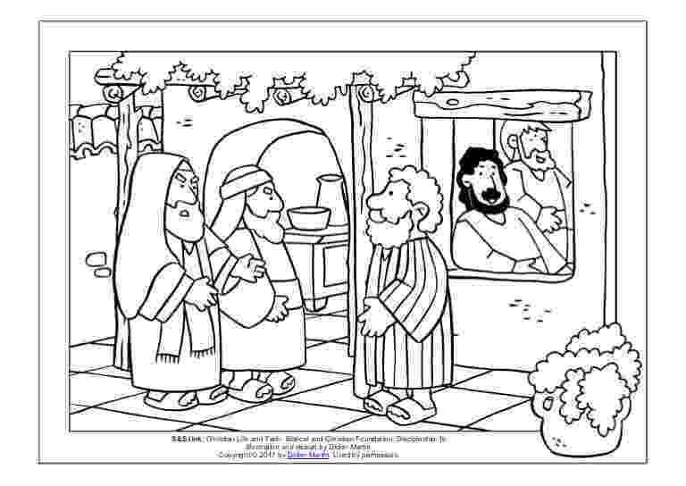 matthew the tax collector coloring page and he got up and followed him sunday school projects page tax collector the coloring matthew