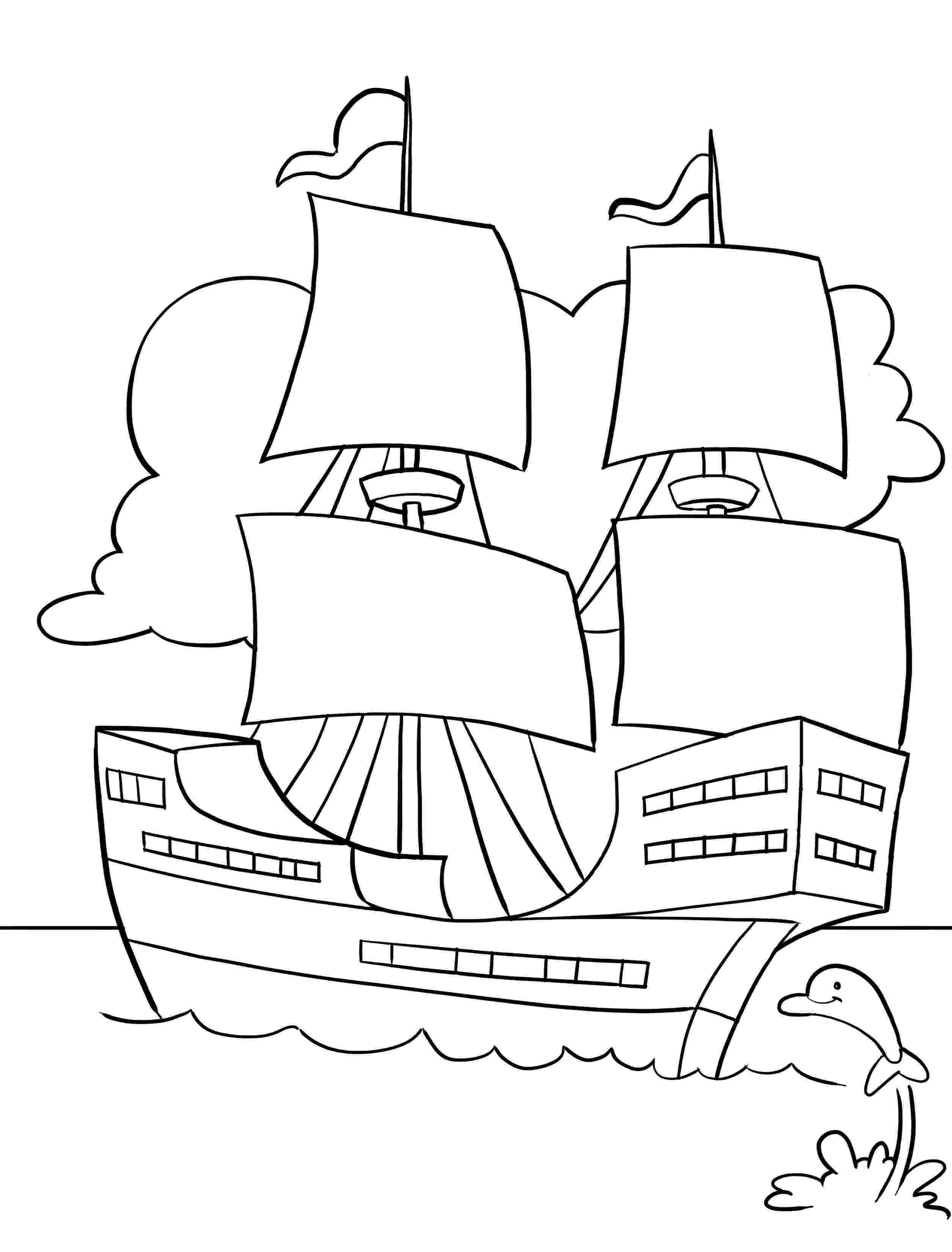mayflower coloring page thanksgiving coloring page the mayflower page coloring mayflower