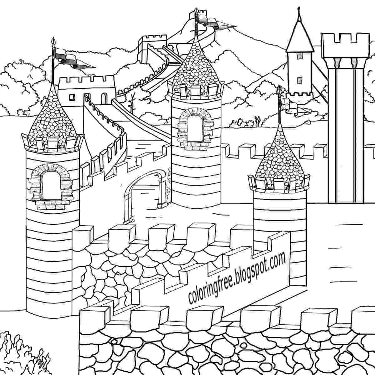 medieval colouring pages free coloring pages printable pictures to color kids colouring medieval pages