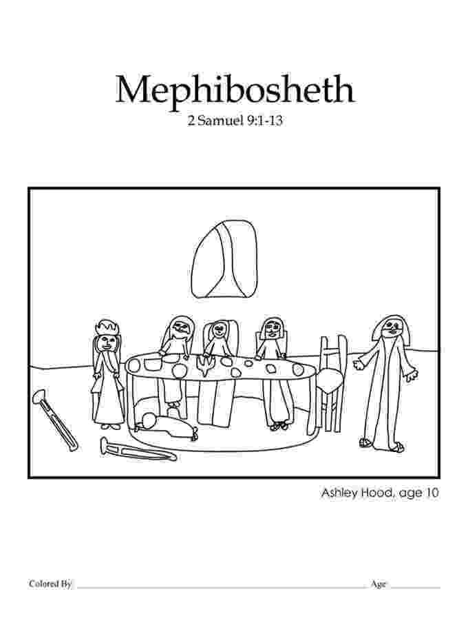 mephibosheth coloring page kids color me bible chapter 22 mephibosheth kids page mephibosheth coloring