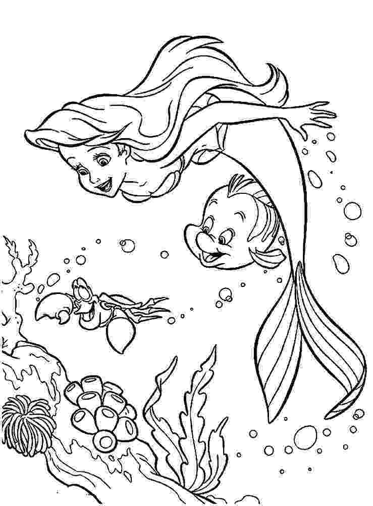 mermaid color ariel the little mermaid coloring pages for girls to print mermaid color