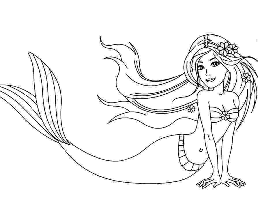 mermaid color barbie mermaid coloring pages best coloring pages for kids mermaid color