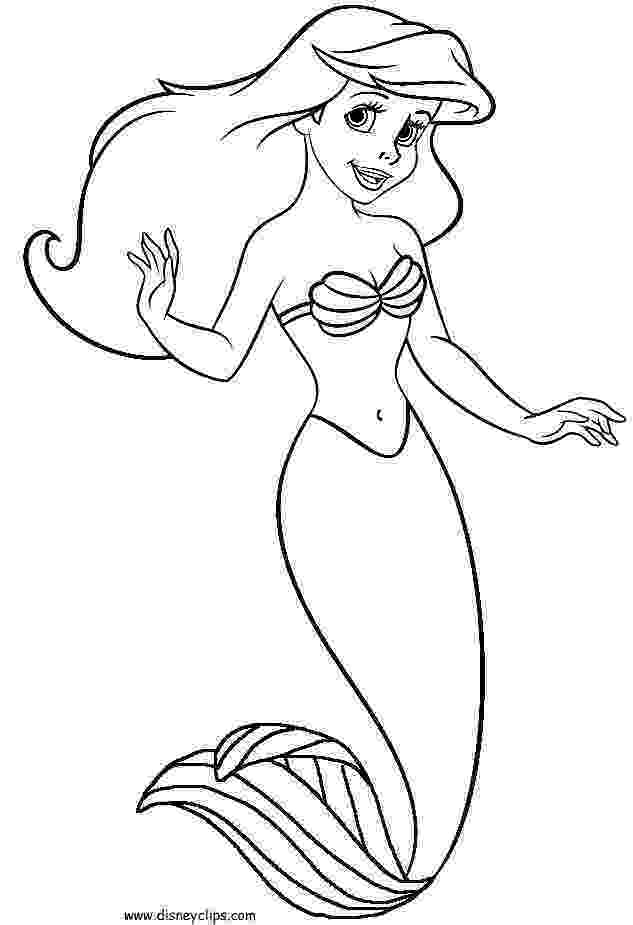 mermaid color little mermaid coloring pages to download and print for free color mermaid