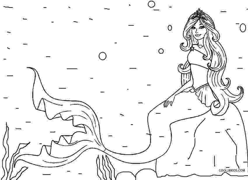 mermaid color printable mermaid coloring pages for kids cool2bkids mermaid color 1 1