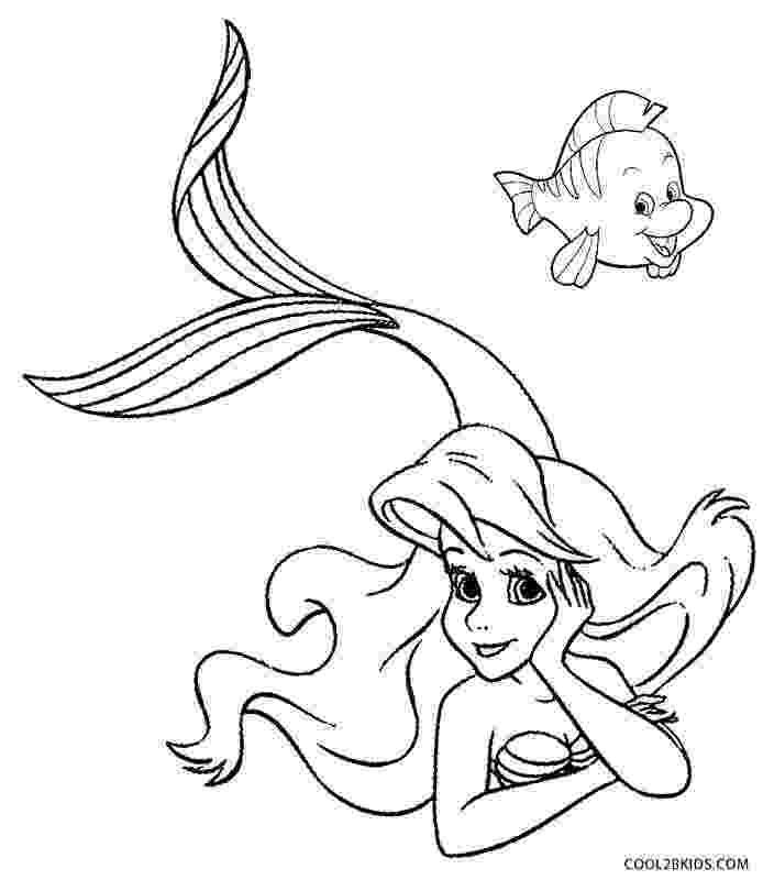mermaid color printable mermaid coloring pages for kids cool2bkids mermaid color 1 2