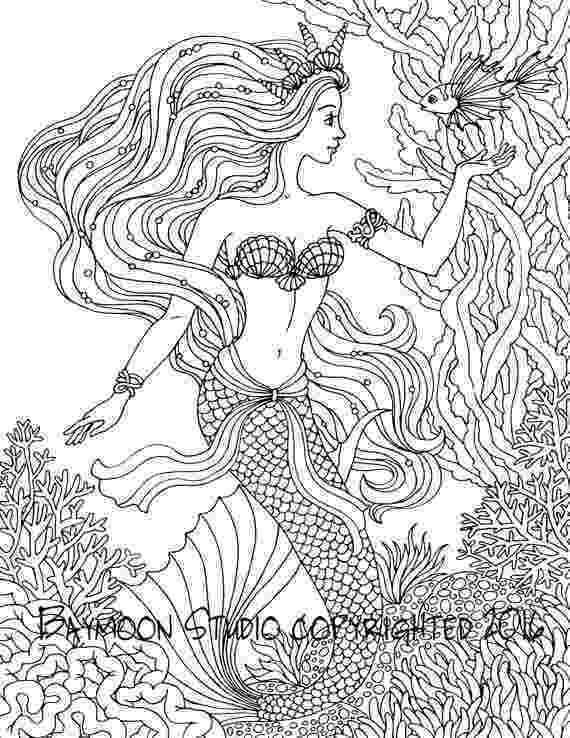 mermaid coloring pages for adults 4455 best images about therapeutical coloring on pinterest coloring adults pages mermaid for
