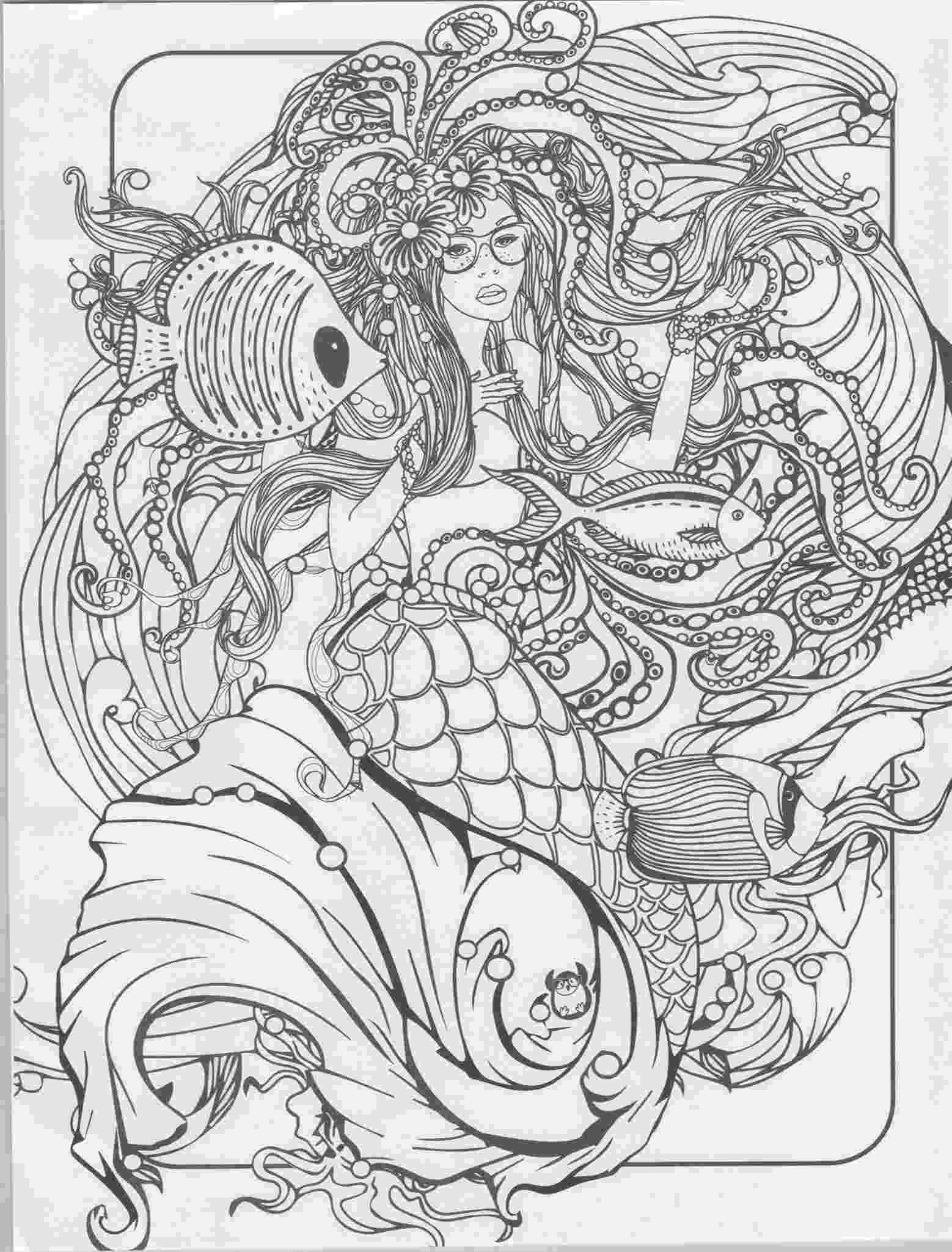 mermaid coloring pages for adults best mermaid coloring pages coloring books cleverpedia mermaid coloring for pages adults