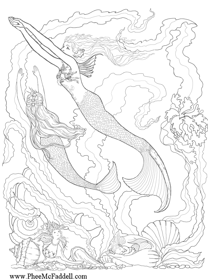 mermaid coloring pages for adults enchanted designs fairy mermaid blog free fairy fantasy coloring for pages adults mermaid