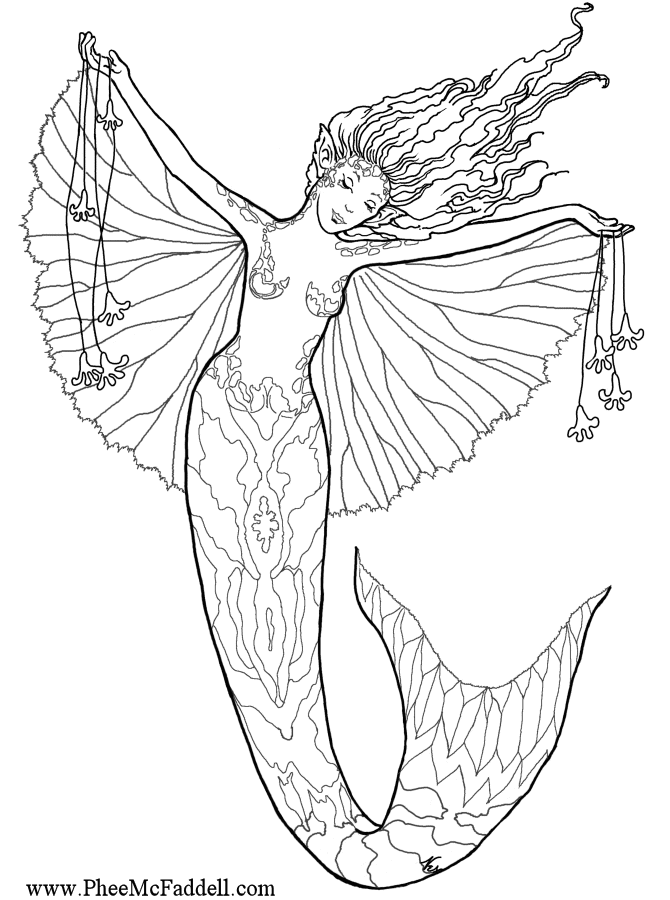 mermaid coloring pages for adults enchanted designs fairy mermaid blog free fairy fantasy coloring pages mermaid adults for