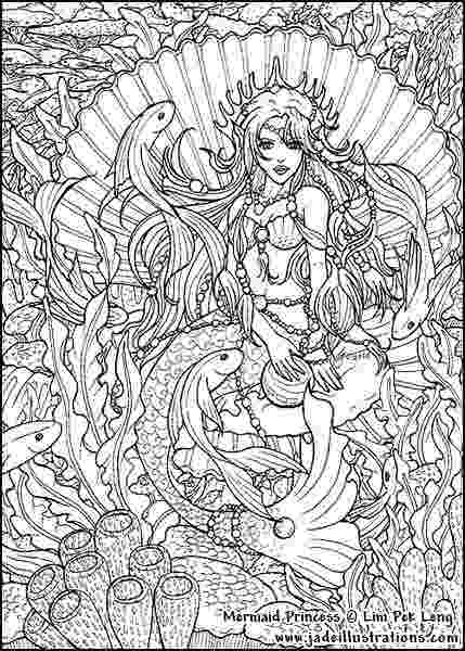 mermaid coloring pages for adults enchanted designs fairy mermaid blog free mermaid pages mermaid for coloring adults