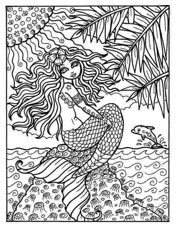 mermaid coloring pages for adults instant download digi stamp mermaid from hawaii adult coloring for mermaid coloring pages adults