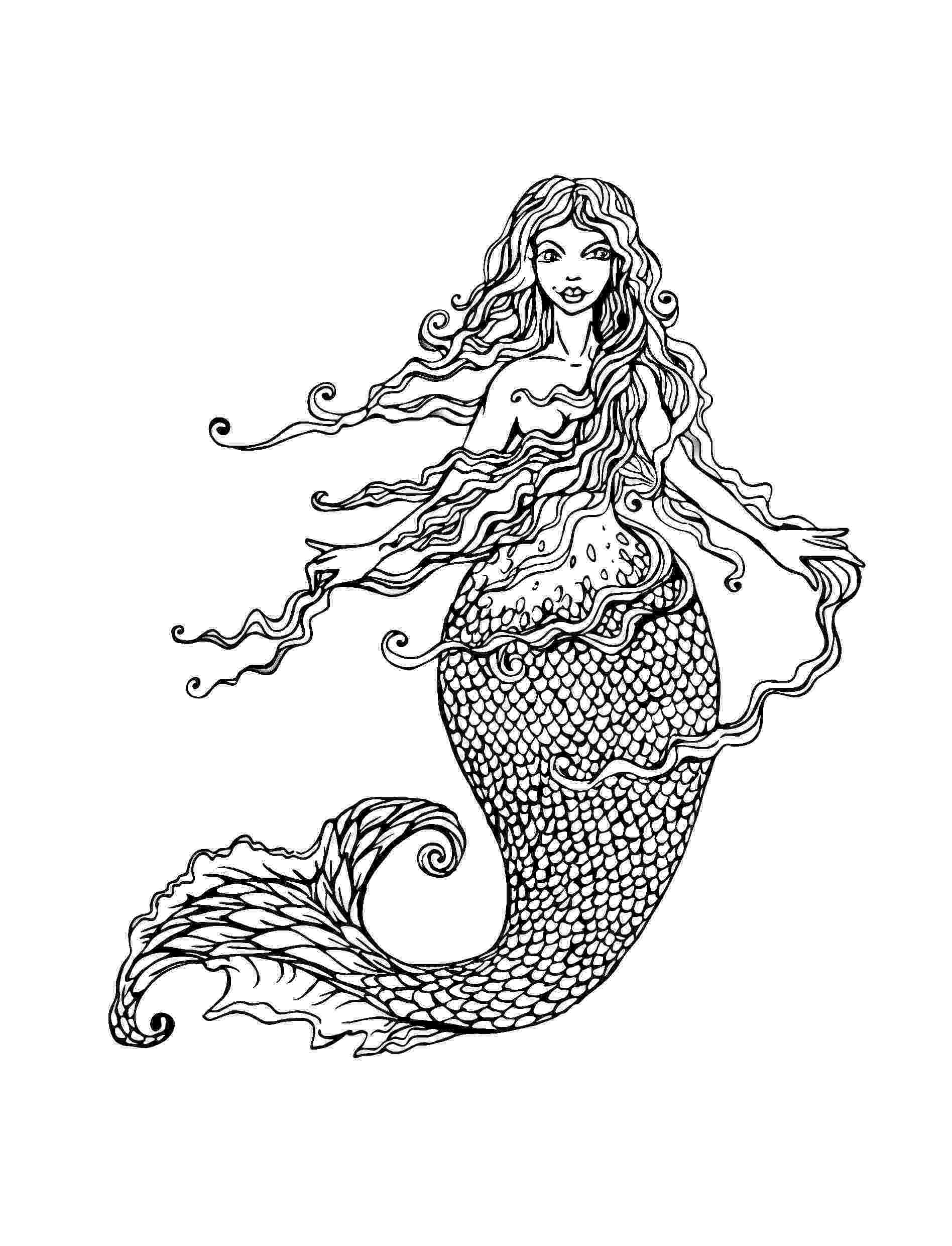mermaid coloring pages for adults mermaid coloring pages for adults best coloring pages pages adults coloring for mermaid