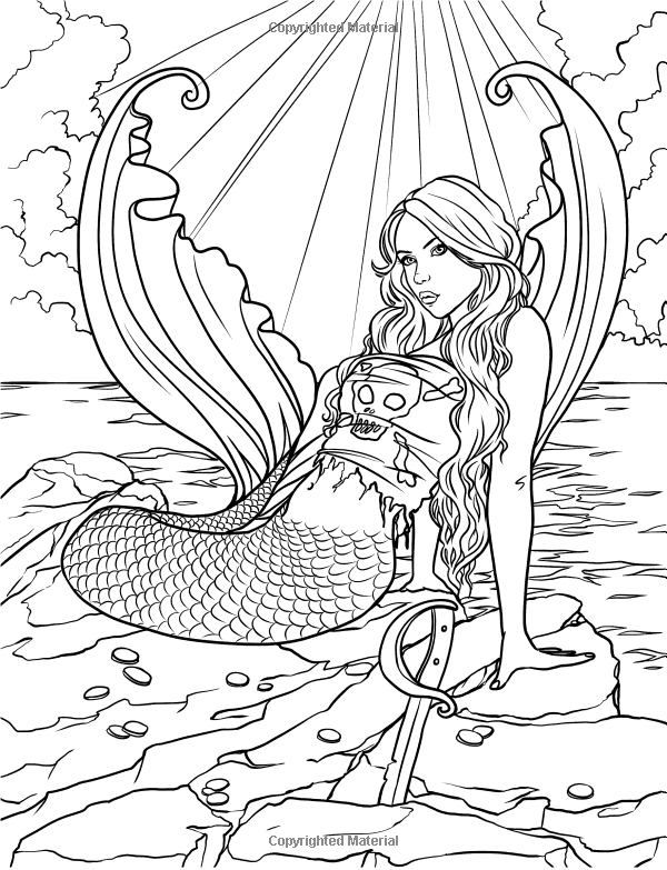 mermaid coloring pages for adults mermaid myth mythical mystical legend mermaids siren pages coloring mermaid adults for