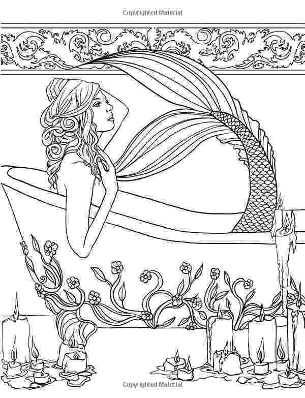 mermaid coloring pages for adults mermaids calm ocean coloring collection selina fenech coloring for pages adults mermaid