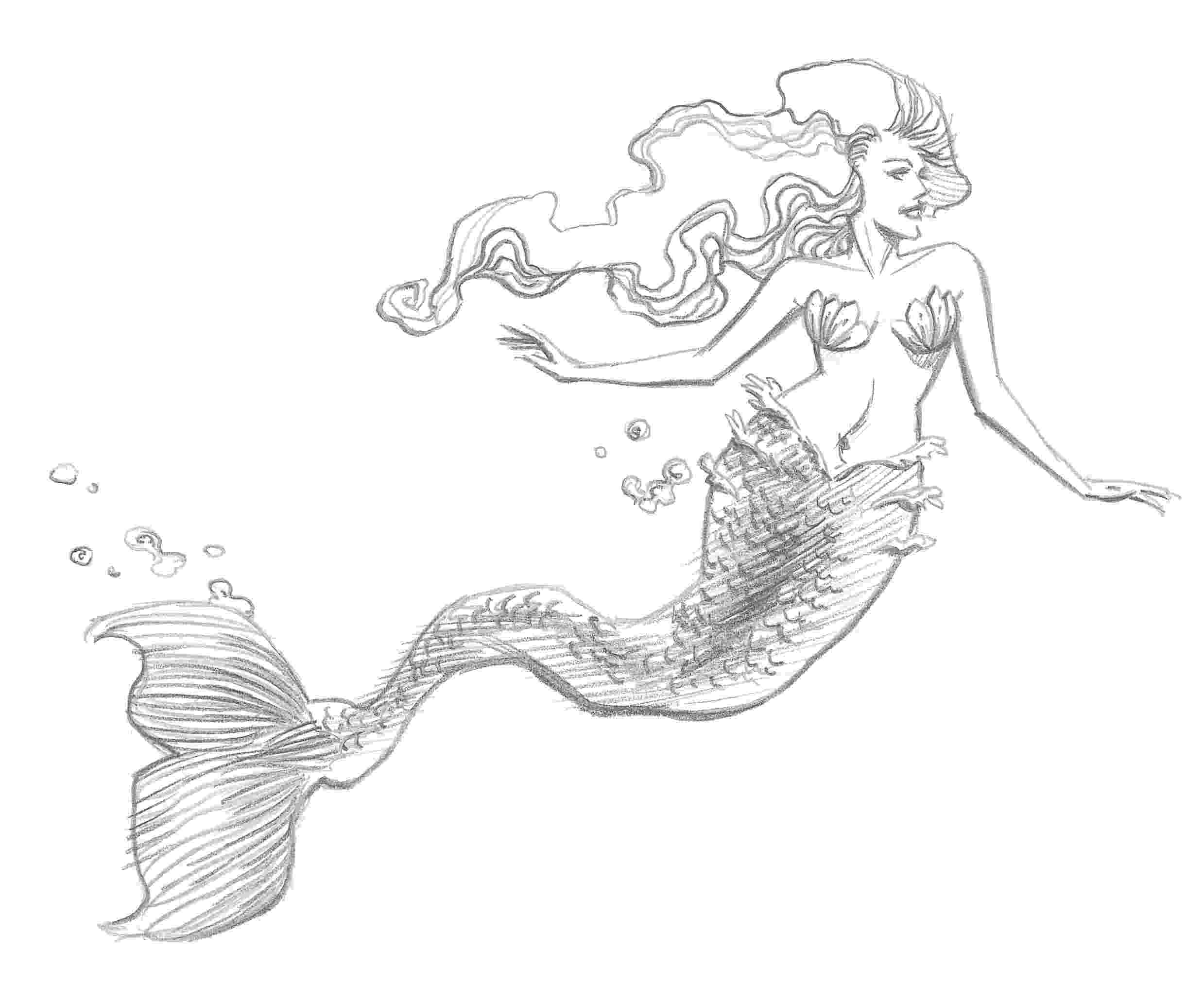 mermaids to draw mermaid extract from 50 things to draw by ed tadem how draw to mermaids