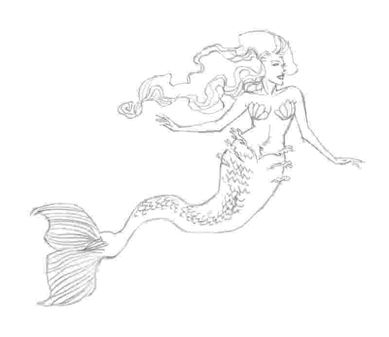 mermaids to draw mermaid extract from 50 things to draw by ed tadem how to draw mermaids
