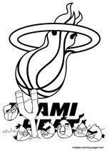 miami heat coloring sheets houston rockets logo nba coloring pages rockets logo coloring miami heat sheets