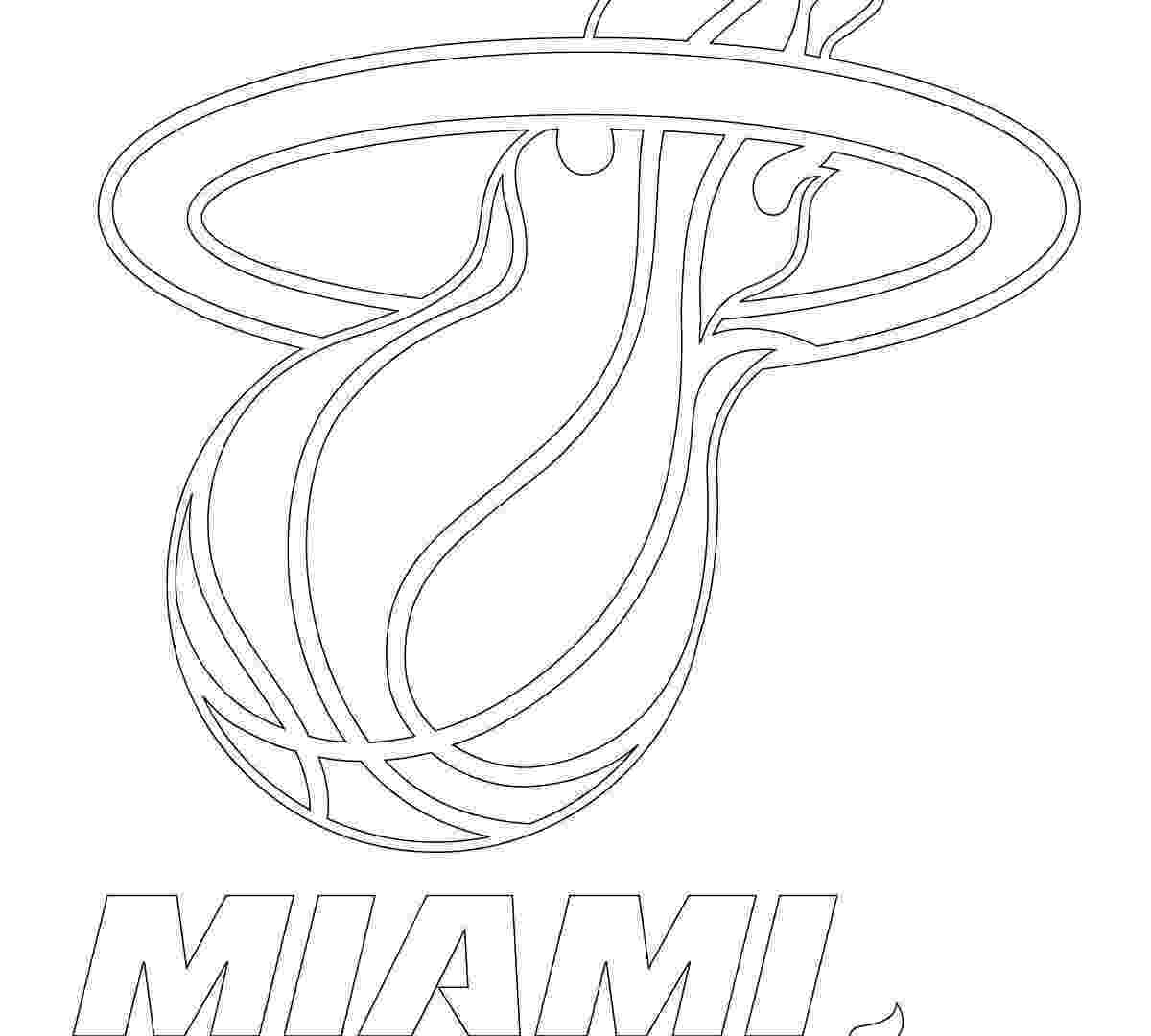 miami heat coloring sheets printable free basketball coloring page of ball miami coloring heat sheets
