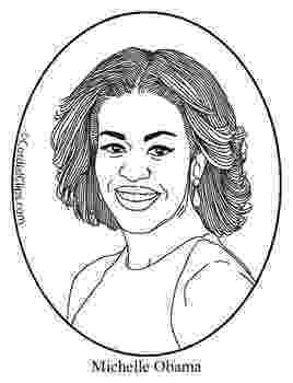 michelle obama coloring pages michelle obama clip art coloring page or mini poster by coloring pages obama michelle
