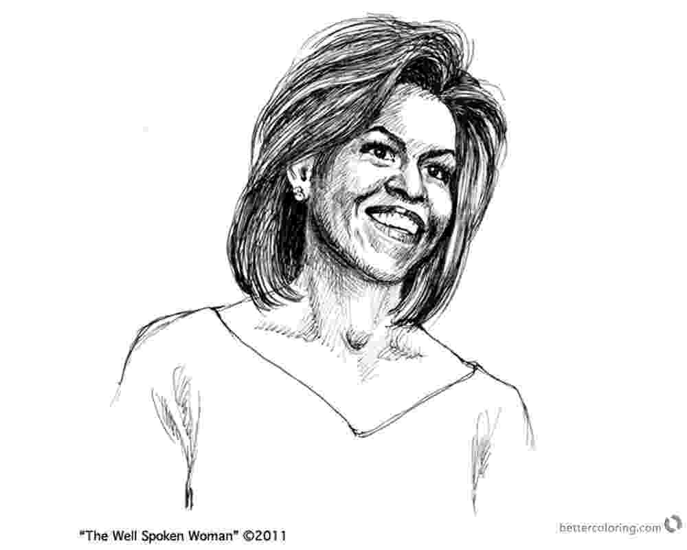 michelle obama coloring pages michelle obama coloring pages the well spoken woman free obama michelle pages coloring