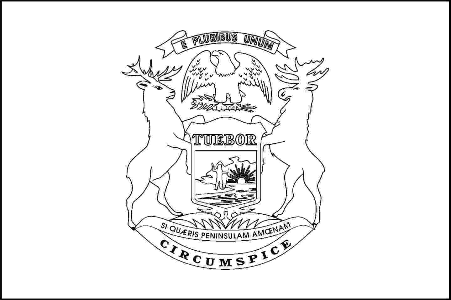 michigan state flag coloring page back side of us seal free coloring pages coloring state page michigan flag